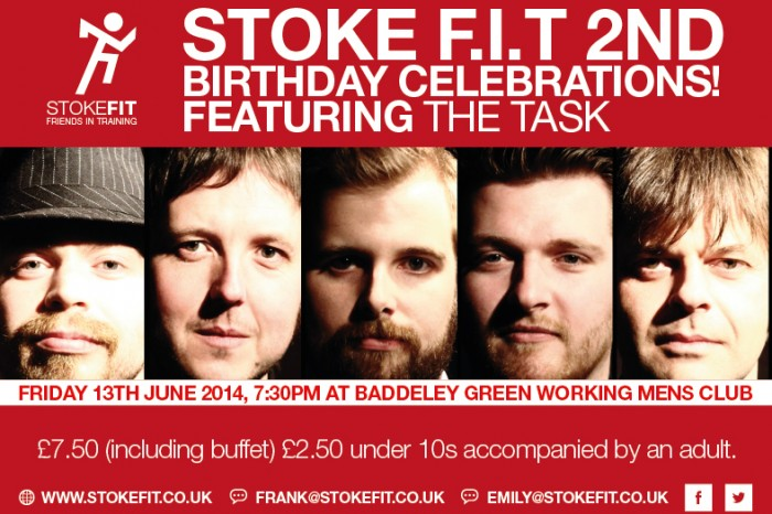 Stoke F.I.T. party 13th June 7:30 onwards