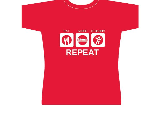 Eat, Sleep, Stoke F.I.T. Repeat T-shirt